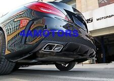 Cla45 Style Exhaust Tips + Diffuser For Mercedes W117 New Cla250 AF-STCLA45