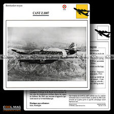 #077.10 CANT Z 1007 - Fiche Avion Airplane Card