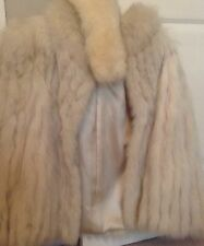 Blue Fox Fur coat with matching head wrap