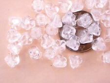 50 Crystal Bell Flower Czech Glass Beads - 6mm x 4mm
