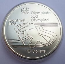 Canada 10 Dollars 1975 Silver coin UNC Canoeing Montreal Olympics 1976