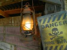 HALLOWEEN PROP - Rusty and Dusty New LED electric converted kerosene Lantern