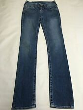 Womens TRUE RELIGION Medium Wash Straight Leg Jeans Sz 26