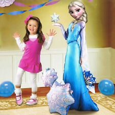 "57"" Disney's FROZEN Snow Queen ELSA  Party Foil Airwalker Balloon No Helium"