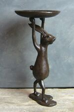 Cast Iron BUNNY RABBIT Statue*Candle Holder*Primitive/French Country Decor