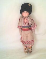 "ANTIQUE COMPOSITION FACE & CLOTH BODY ETHNIC DOLL EXC. 13"" $33.33"
