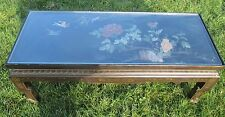 Antique 19th Century Chinese Coffee table Inlay Jade Landscape Scene Stunning