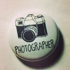 Retro Photographer Button Badge 25mm / 1 inch Camera Photography Vintage