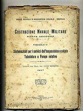 Luigi Monetti#COSTRUZIONE NAVALE MILITARE#Pt.II°-Fasc.V°#L'Industriale 1927