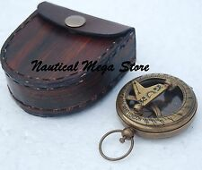 NAUTICAL MARITIME WEST LONDON STEMPUNK BRASS SUNDIAL COMPASS PUSH BUTTON PIRATE