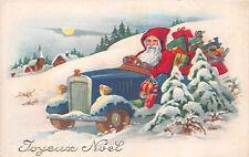 B86330 santa with car and presents france santa claus father christmas papa noel