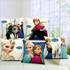Home Decor Snow Frozen Princes Elsa & Anna Back Cushion Cover Throw Pillow Case
