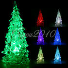 Color Changing Icy Crystal LED Christmas Tree XMAS Decorate Night Light Lamp NEW