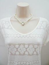 "Twisted Pearl Rope Choker Necklace and pendant with Diamante 17"" Long"