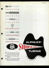 Super Rare Original Factory 1962 Alpha Wire Brochure: Alphlex Heat Shrink Tubing