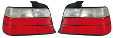 Back Rear Tail Lights Lamps Indicators Set In Red-White Pair For BMW E36 Saloon