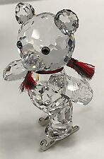 SWAROVSKI CRYSTAL CHRISTMAS KRIS BEAR MINIATURE FIGURINE ICE SKATES 193011 MIB
