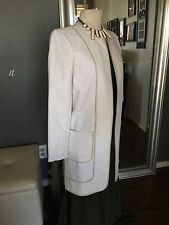 NWT Sachin + Babi Women's Cream Color Kassidy Long Trench Size 6 Retail $653
