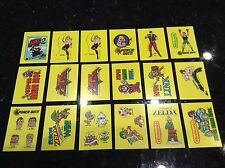 1989 NINTENDO O-Pee-Chee Sticker Lot (18 Tip Cards) Zelda, super Mario punch out