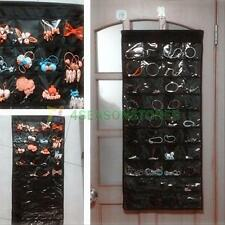 80 Pockets Jewelry Hanging Storage Organizer Bag for Bracelet Earrings Display