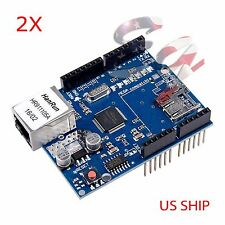 2X Ethernet Shield W5100 For Arduino Board 2009 UNO R3 ATMega 328 MEGA 1280 2560