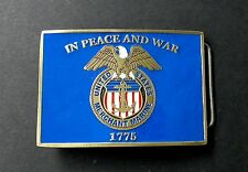 US MERCHANT MARINE 1775 PEACE AND WAR BELT BUCKLE 3.1 INCHES MADE IN THE USA