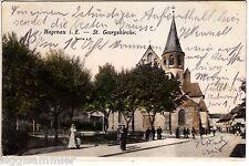 Haguenau Hagenau AK 1904 St. Georgskirche animeé Elsass Alsace France 1505539