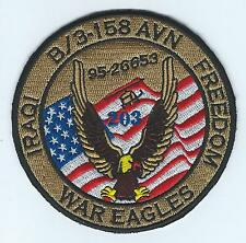 "B CO 3-158th AVN IRAQI FREEDOM ""WAR EAGLES"" desert patch"