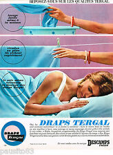 PUBLICITE ADVERTISING 065  1965  DRAPS TERGAL  DESCAMPS L'AINE