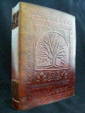 A4 Tree of Life Pagan Wicca Handmade Leather ALTAR BOOK Grimoire Book-of-Shadows