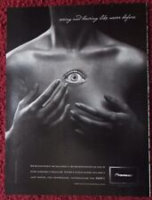 2008 Print Ad Pioneer KURO Plasma TV Television ~ Surreal Girl Eye in Her Chest