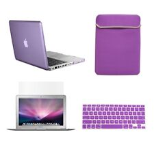 "4 in 1 PURPLE Crystal Case for Macbook Pro 13"" A1425 Retina+Key Cover +LCD+BAG"