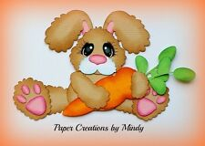 Craftecafe Mindy Easter Bunny Carrot  premade paper piecing scrapbook page album
