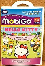 VTech Hello Kitty Birthday Party Mobigo Mobigo2 NEW Ages 3-5 Learning Games