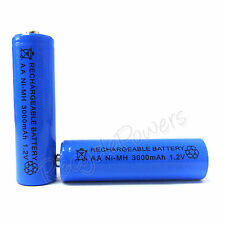 2 pcs AA Cell 3000mAh Ni-MH Rechargeable Battery Blue For CD player camera flash