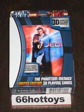 Star Wars 3D Limited Edition Playing Cards with Embossed Tin- Phantom Menace New