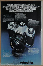 1981 MINOLTA XD-11 advertisement for, Minolta XD 11 camera & lenses