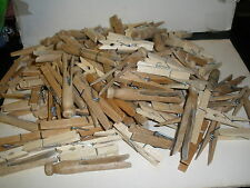 HUGE lot of over 150 wooden clothes pins all types, sizes, and ages