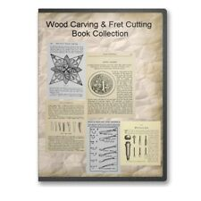 Wood Carving Woodworking Fretsaw Fret Cutting Chip Carving 18 Books CD  - B507