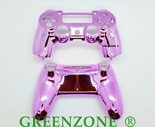 Pink Chrome Custom PS4 Replacement Controller Hydro Dipped Shell Mod Kit