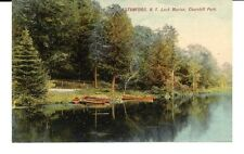 STAMFORD, N.Y. LOCH MARION, CHURCHILL PARK. NEW YORK. ROWBOATS & CANOES BEACHED.