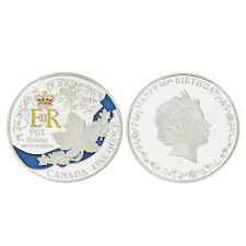 Silver Plated Queen's 90th Birthday Commemorative Coin Collectible Cool Gift