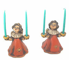 THUN ANGEL PAIR DOUBLE CANDLE HOLDERS HAND MADE MID CENTURY BOZEN ITALY