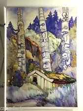 "Emily CARR "" Haida Totems "" Out of print Group of Seven art Totem Poles"