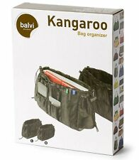 2 x Balvi BAG ORGANISER Kangaroo BLACK Handbag Tidy INSERT Travel Storage