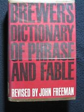 Brewer's Dictionary of Phrase and Fable (Ninth Edition) [Hardcover] by Freema...