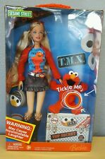 2006 Barbie & Tickle Me Elmo Sesame Street Doll #K5499 10th Anniversary