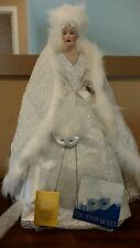 """Franklin Mint Heirloom Handcrafted Snow Queen Masquerade by J Reavy 23"""" Doll"""