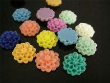 20pc mix color 15mm resin flower cabochon-7332
