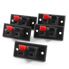 5x 2 Positions Push in Jack Spring Load Audio Speaker Terminals Panel Connector